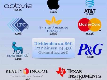 Dividenden/Zinsen 08/2020