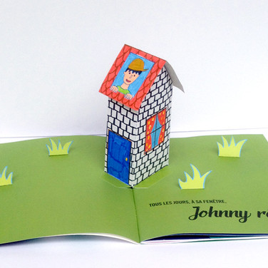 """""""Une fusée dans les étoiles"""". Page 1 : Johnny rêve."""