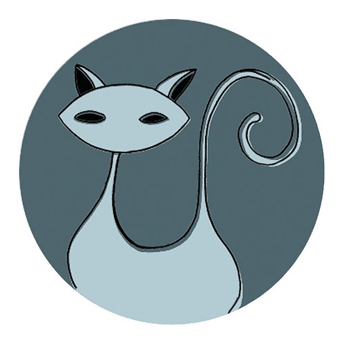 Ecusson Katze bleu