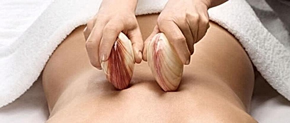 Massage aux coquillages relaxant et apai