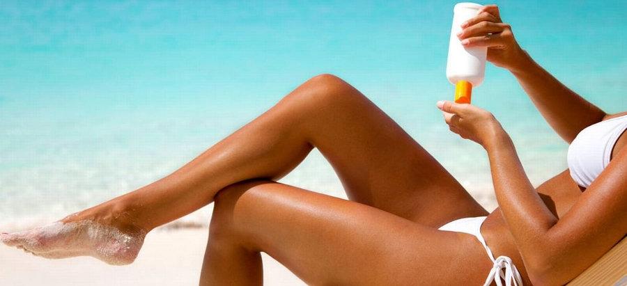 Protection solaire du visage crème et ge