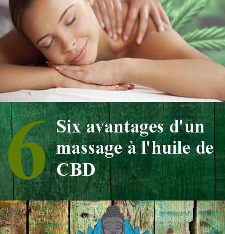 Six avantages d'un massage à l'huile de CBD