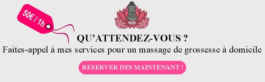 Réserver massage grossesse domicile Bouches du Rhône