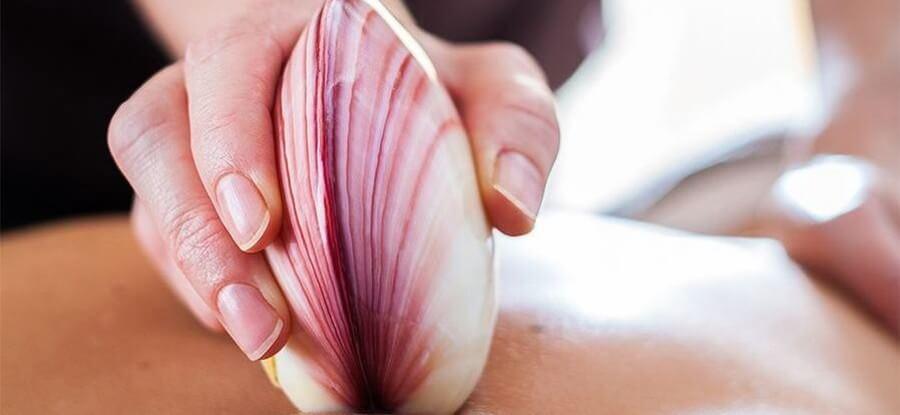 Massage aux coquillages chauds domicile Martigues