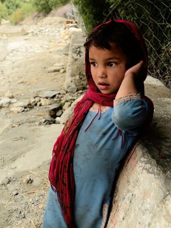 Small child in a big world