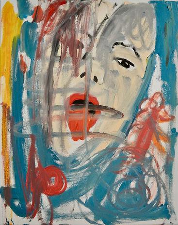 Serie: Die ICH-Fremde, Lick it, 2020, 50 x 40 cm