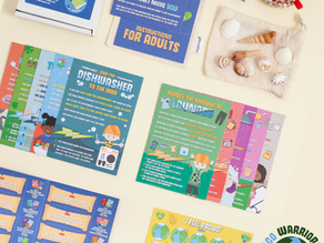 New card game for kids with sustainable living message