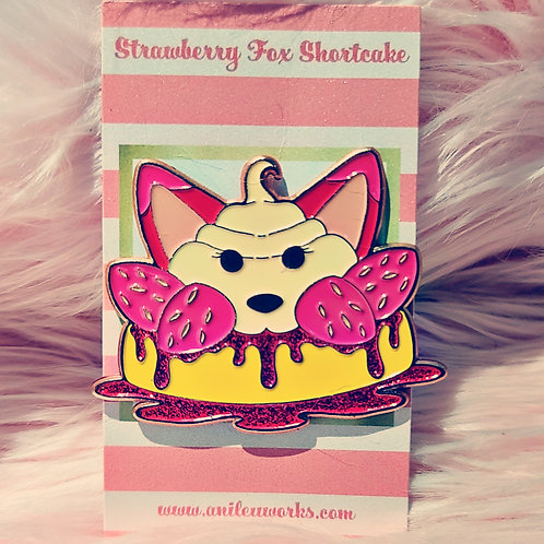 Strawberry Fox Pin