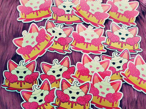 Strawberry Fox Stickers