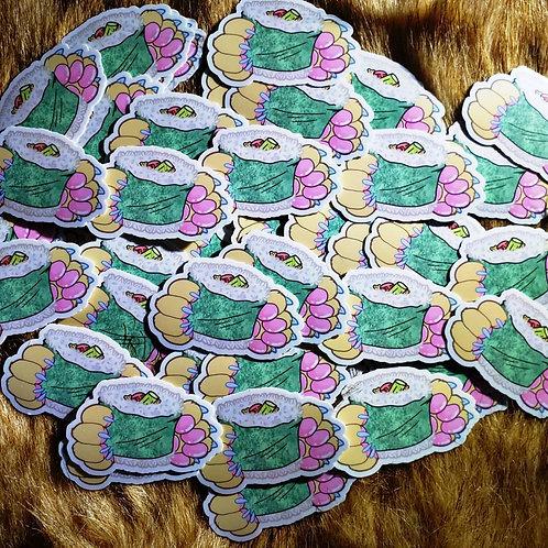 Sushi Paws Sticker