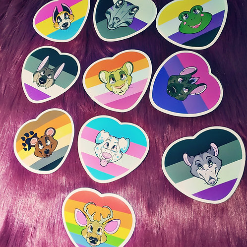Pride Heart Stickers