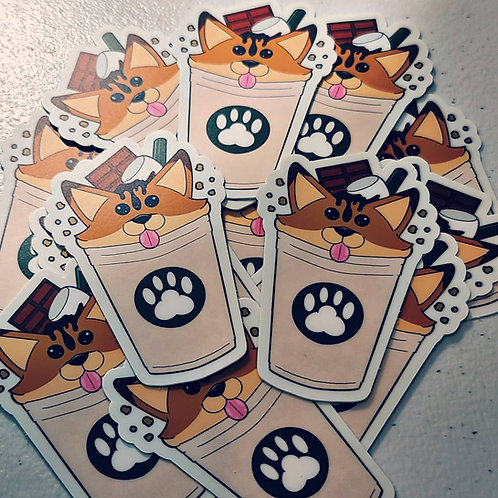 Smores Foxuccino Sticker