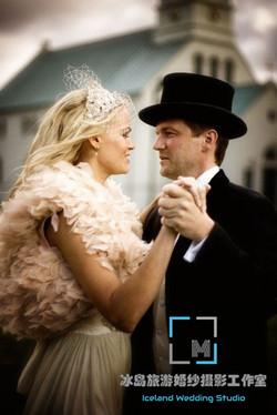 欧洲宫廷新娘造型,冰岛婚纱照