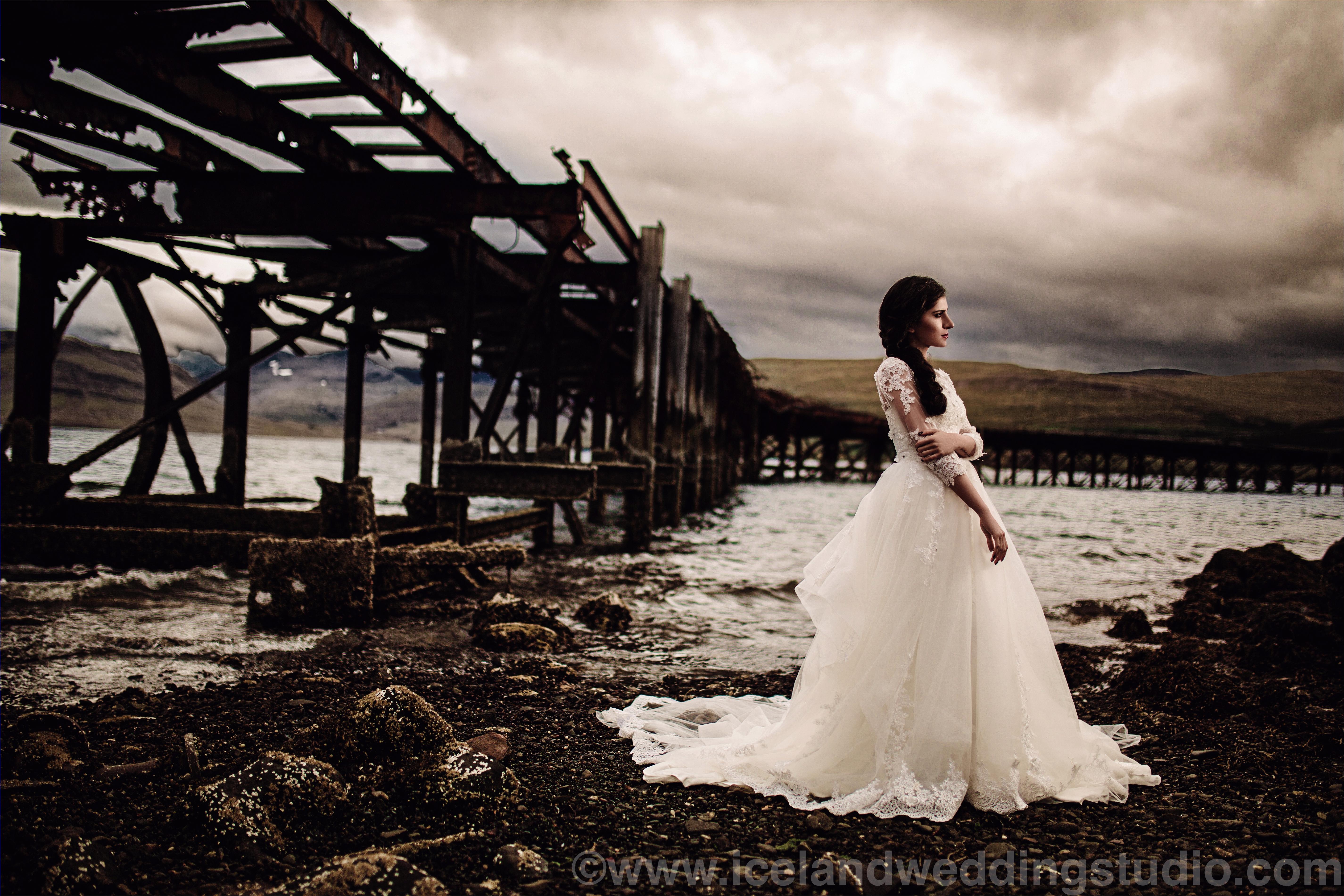 冰岛新娘跟妆,私景婚纱照