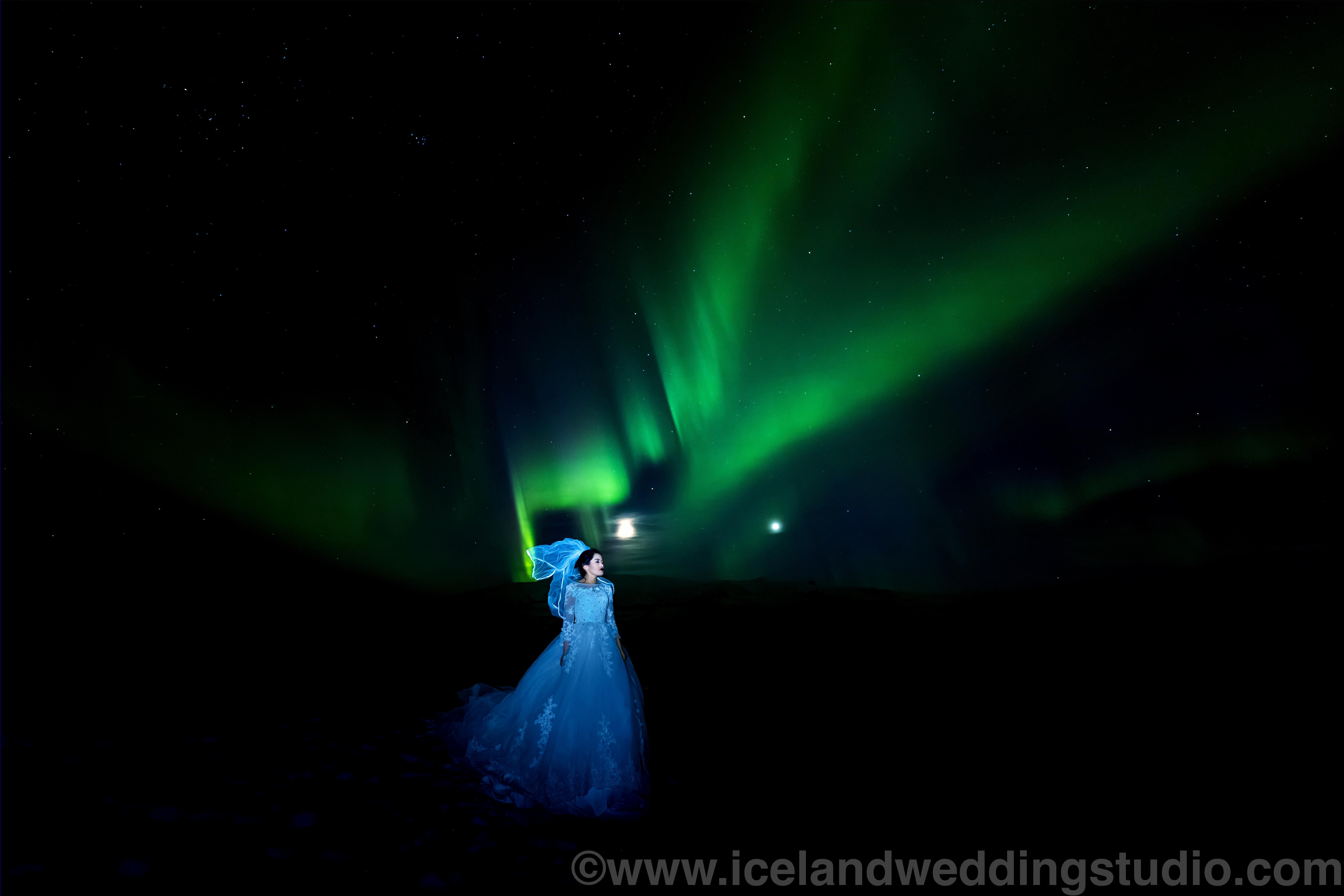 北极光,杰古沙龙冰河湖