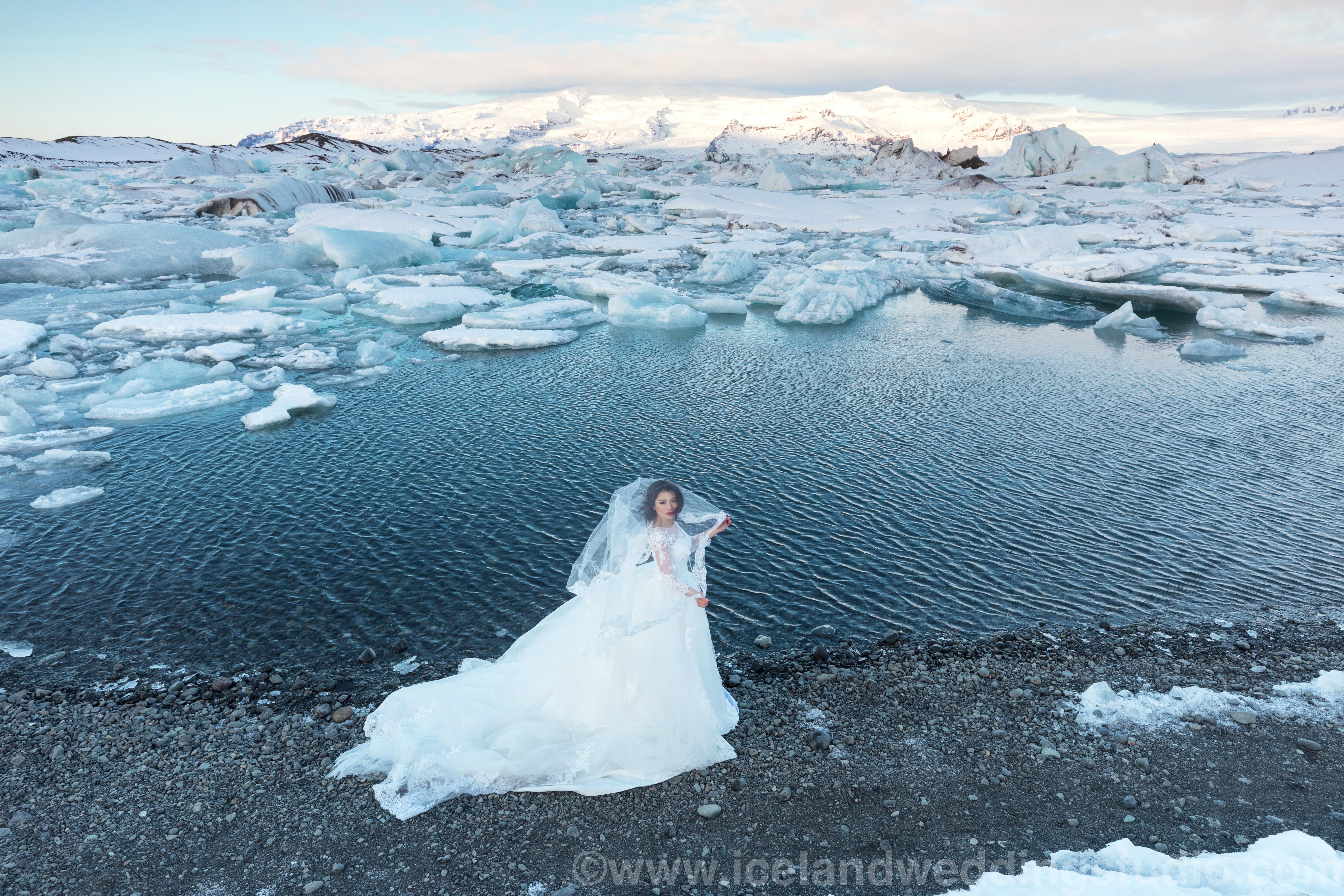 杰古沙龙冰河湖,冰岛婚纱照