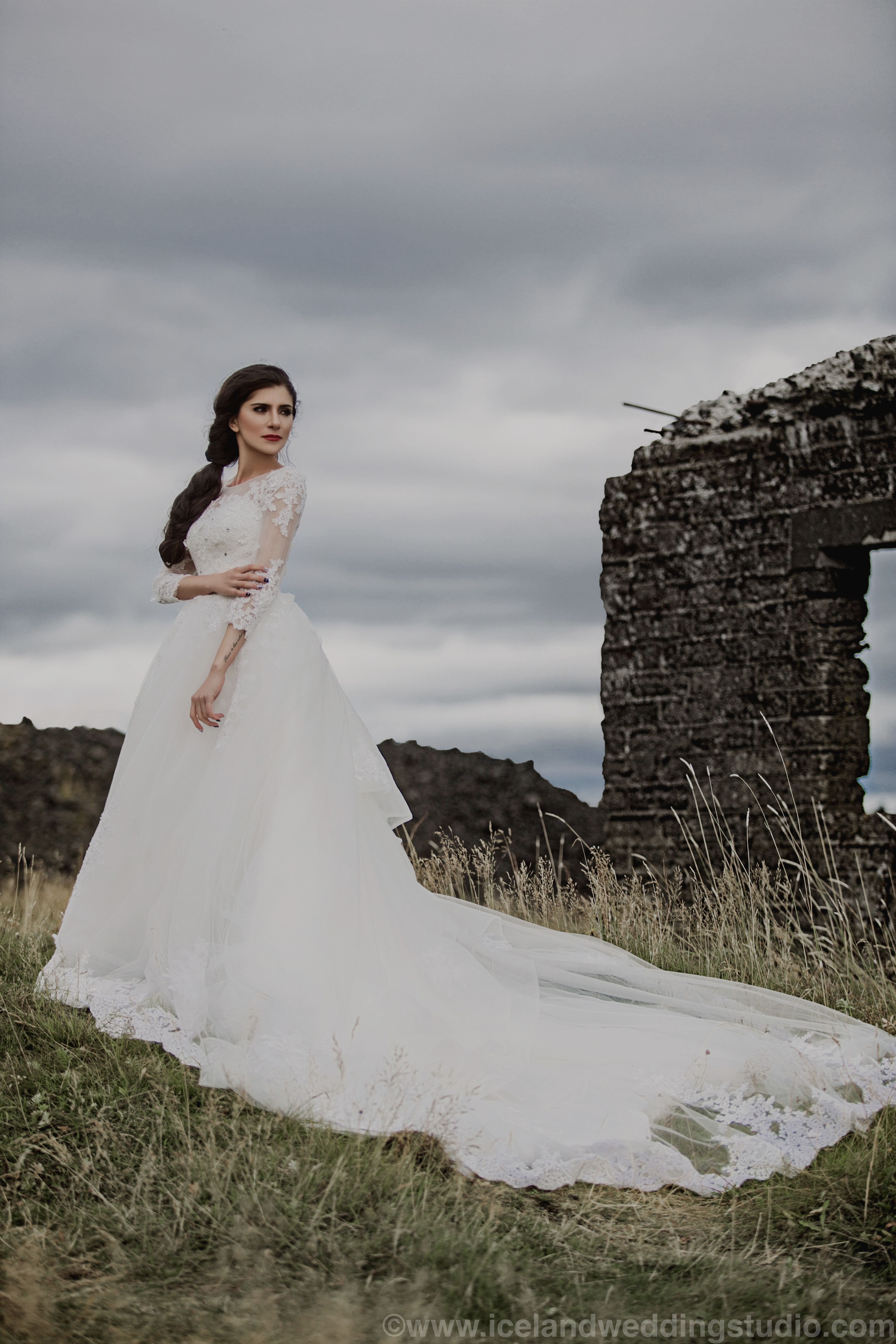 新娘妆发,冰岛婚纱摄影