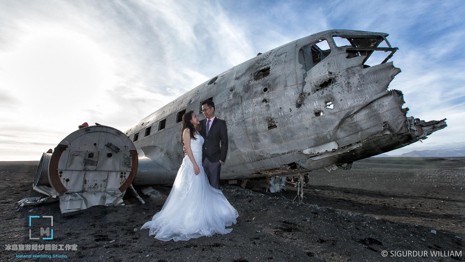 南部飞机残骸,冰岛婚纱摄影专家