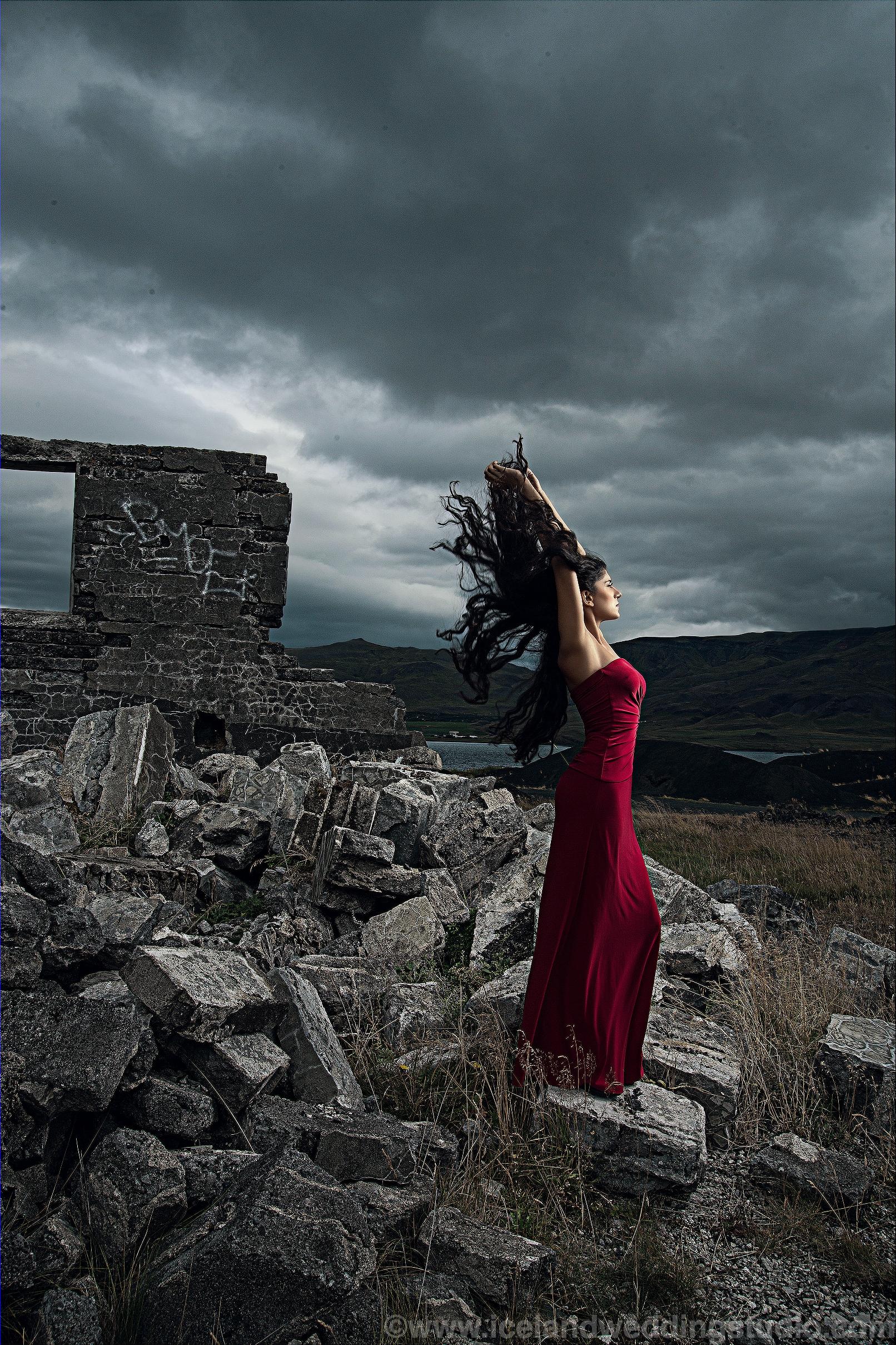 黑天鹅,冰岛创意写真