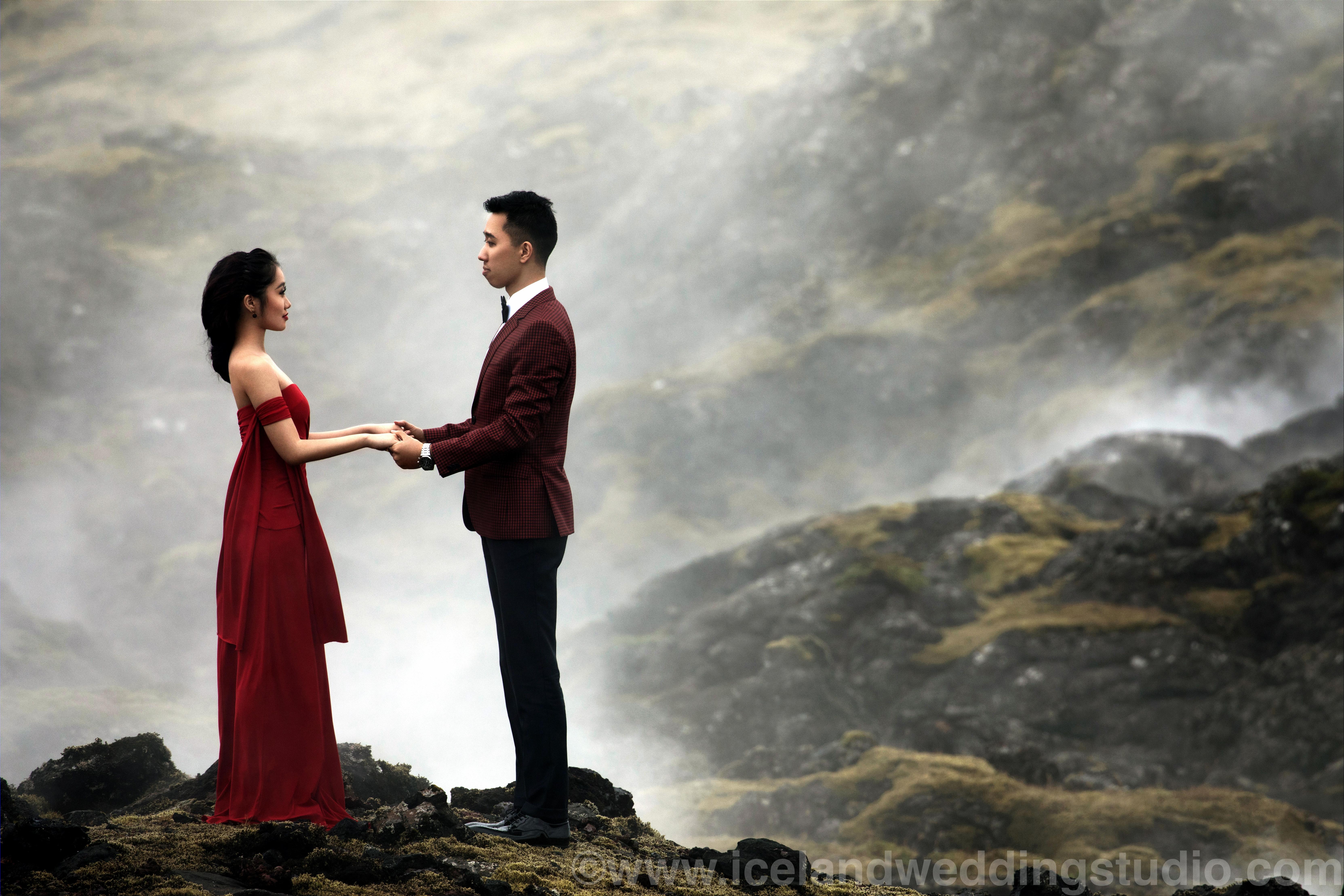 冰岛蜜月旅行,情侣写真