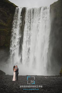 斯柯达瀑布婚纱照,冰岛旅行结婚