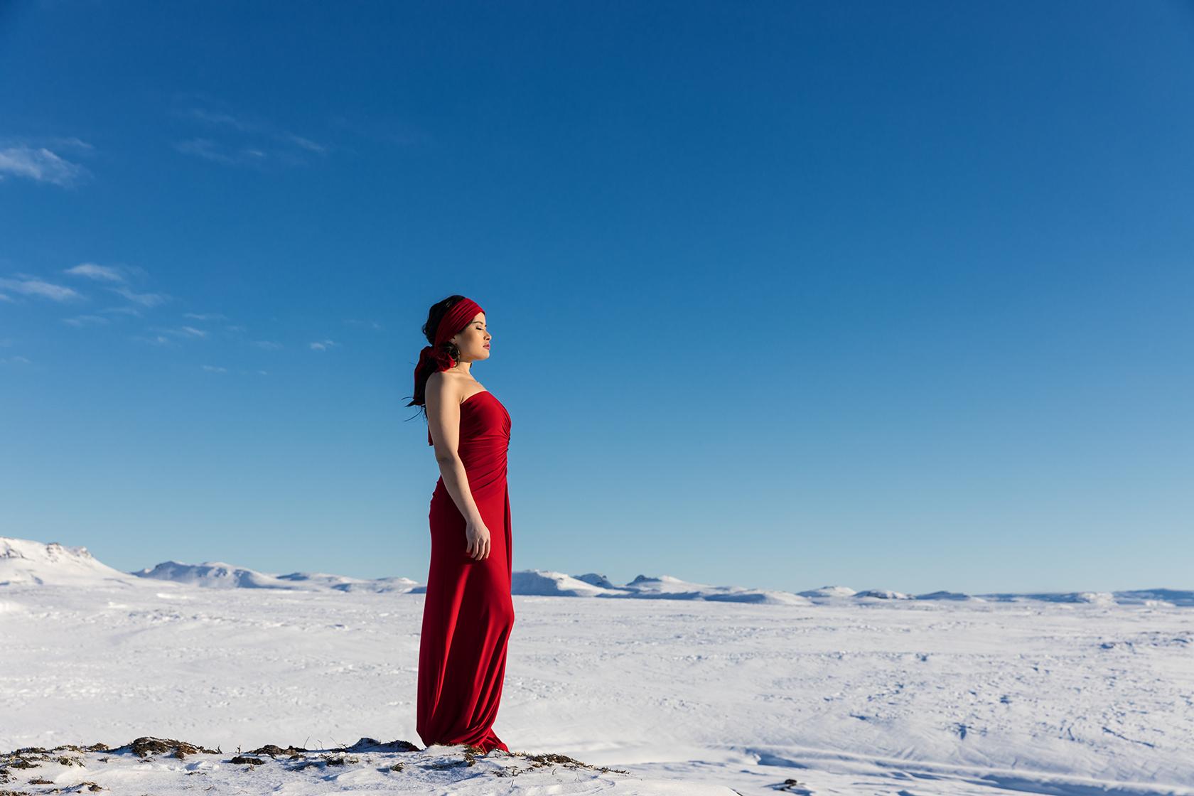 travel in Icelandic glacier