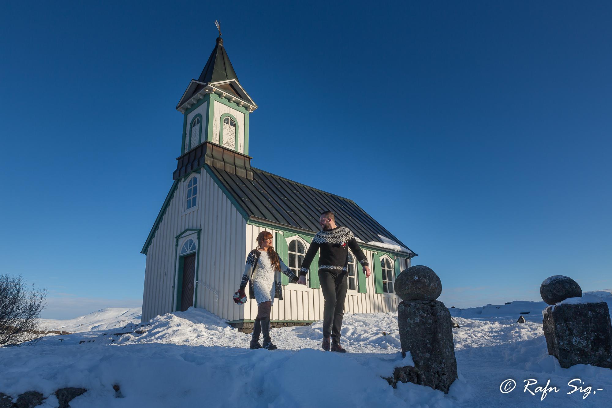 教堂极简婚礼,冰岛结婚照