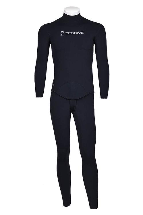 BESTDIVE 3mm男士兩用雙面穿防寒衣(無帽) 深灰色/經典黑