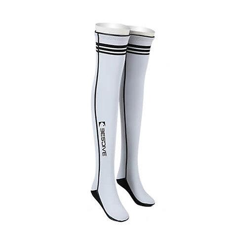 BESTDIVE 2mm氯丁橡膠過膝潛水襪 珍珠白