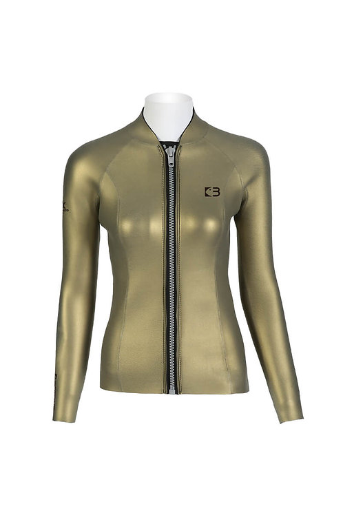 BESTDIVE 3mm女士炫彩拉鍊夾克 琥珀金