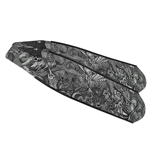 DIVER 黑白礁石 碳纖維長蛙鞋板