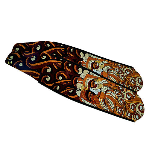 DIVER 棕色海王星 碳纖維長蛙鞋板 ( 不含腳套 )