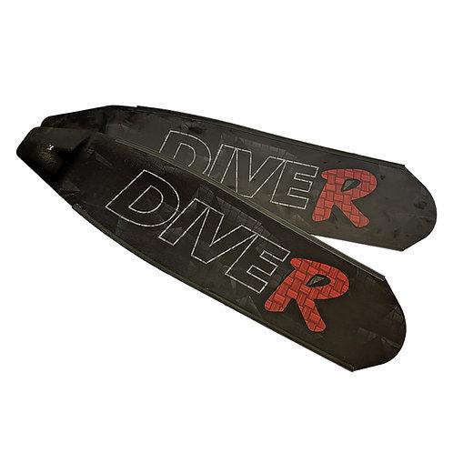 DIVER 紅R  Innegra碳纖維長蛙鞋板 ( 不含腳套 )
