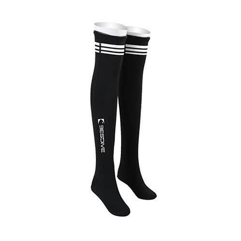 BESTDIVE 2mm氯丁橡膠過膝潛水襪 經典黑