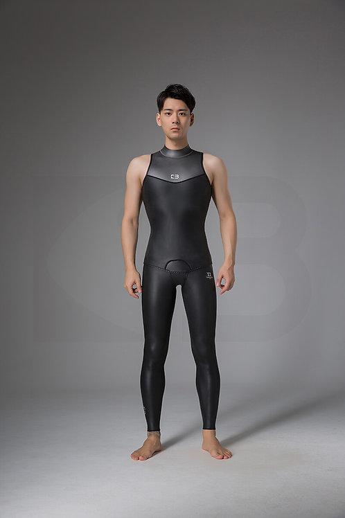 BESTDIVE 2mm男士墨灰炫彩訓練背心 石墨黑/深邃灰