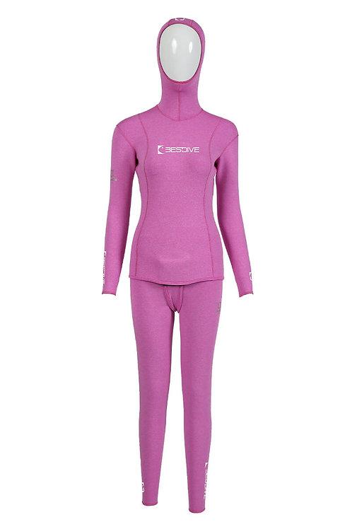 BESTDIVE 3mm女士藍洞系列防寒衣 浪漫紫