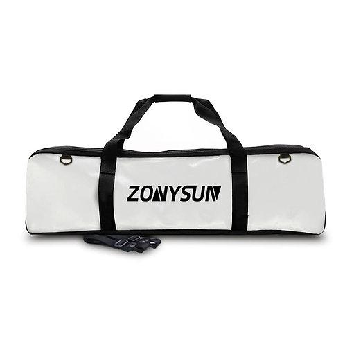 ZONYSUN 亮皮面蛙鞋防水裝備袋 白色