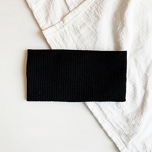 針織運動髮帶 黑色 5條超值組