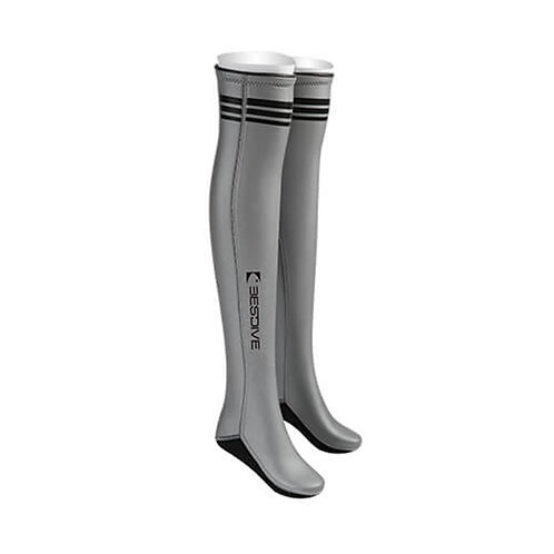 BESTDIVE 2mm氯丁橡膠過膝潛水襪 太空銀