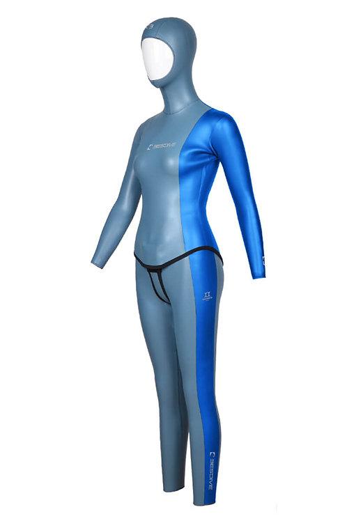 BESTDIVE 3mm女士太極系列防寒衣 晨暮藍/加勒比藍
