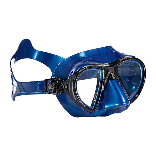 Cressi Nano 義大利進口玻璃低容積面鏡 藍色