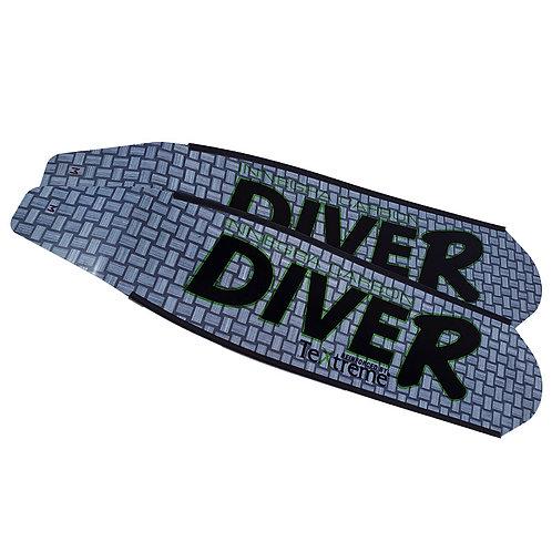 DIVER 灰色 Innegra碳纖維長蛙鞋板