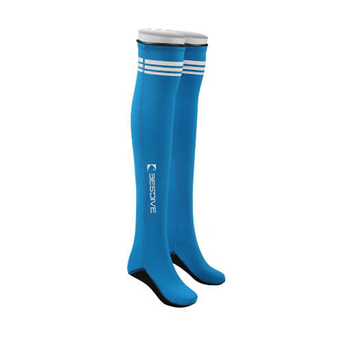 BESTDIVE 2mm氯丁橡膠過膝潛水襪 湖藍色