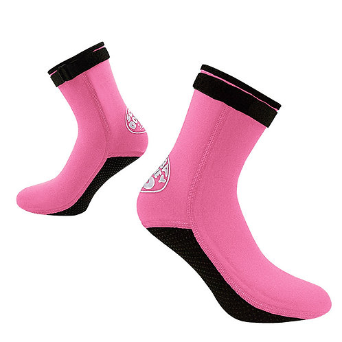 HISEA 3MM長筒襪套 粉紅色