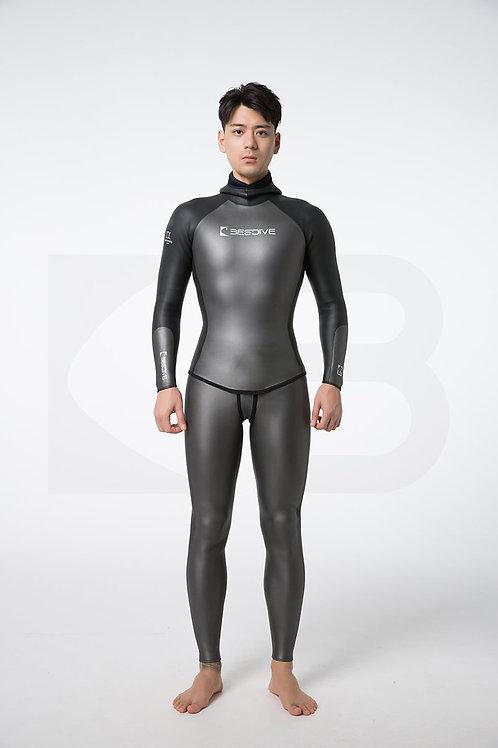 BESTDIVE 3mm男士炫彩秀頎系列防寒衣 深邃灰/石墨黑