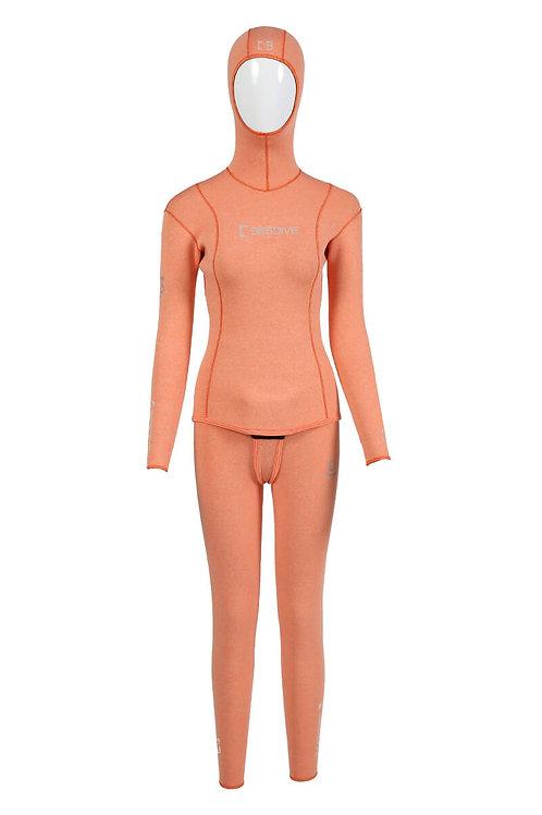BESTDIVE 3mm女士藍洞系列防寒衣 激情橙