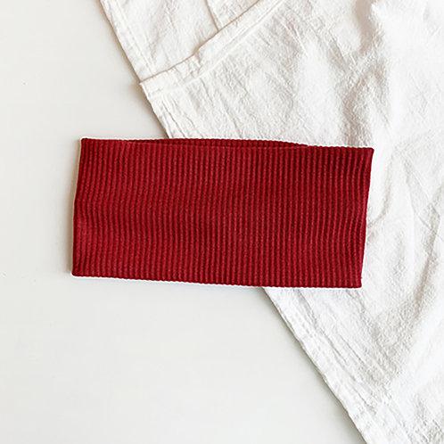 針織運動髮帶 酒紅 5條超值組