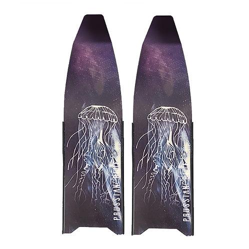 普魯士藍 隨波逐流玻璃纖維長蛙鞋板 ( 不含腳套 )