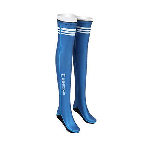BESTDIVE 2mm氯丁橡膠過膝潛水襪 加勒比藍