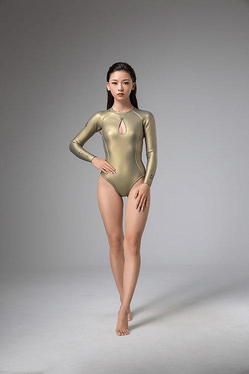 BESTDIVE 2mm女士美杜莎系列比基尼防寒衣 拉??色款 琥珀金